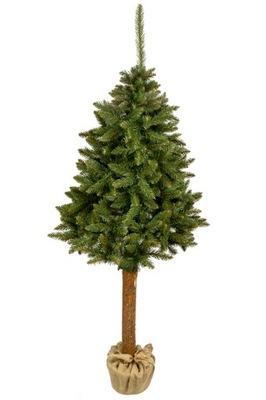 Vianočné stromčeky - Strom, SMREK umelé REALISTICKÉ 160 cm na pni