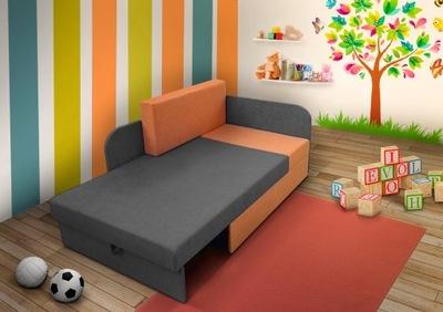 Detská posteľ, stoličky, rohová sedačka MEDVEDÍK