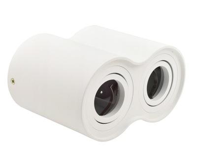 Nástenné svietidlo DVOJITÉ GU10 spot LED trubice B7173