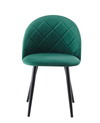 Krzesło fotel tapicerowany zielony welur GLAMOUR