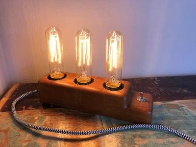 LAMPY, EDISON RETRO PRIEMYSELNÝ LOFT DIZAJN TEAK