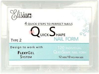 Elisium Quick Shape Nail Formy Do Żelu Typ2 120szt