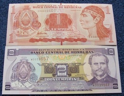 ZESTAW BANKNOTÓW HONDURAS !!! UNC !!! KOMPLET