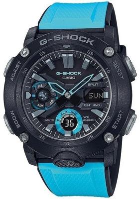 070878f4062a4e ZEGAREK MĘSKI G-SHOCK GA-2000-1A2 CARBON 20BAR - 7969228547 ...