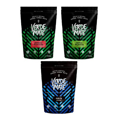 комплект Yerba Verde Mate green разные виды 3x500g
