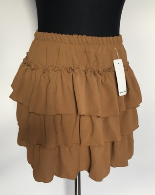 Spódniczka spódnica brązowa wysoki stan latex 46