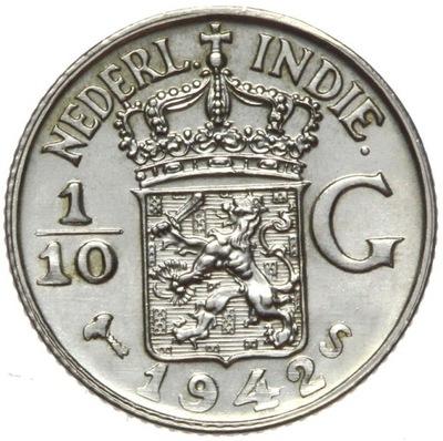 Индия Холл. 1 /10 Голденс 1942 S - серебро - MENNICZA