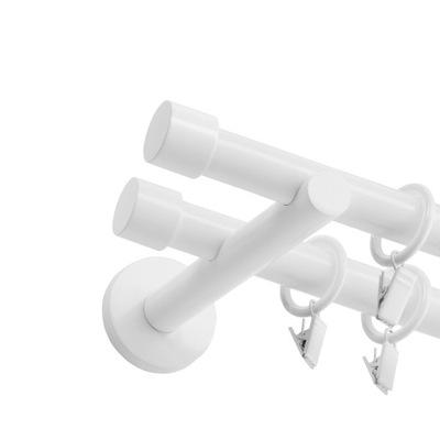 КАРНИЗ металлический Белый Двойной 19 мм 160 см разные