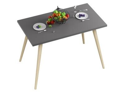 стол СТОЛ Кухня -80x60x18-Графит -НОЖКИ БУКОВЫЕ
