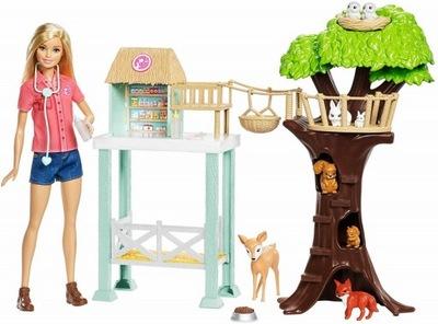 Barbie FCP78 Lalka ze stacją medyczną dla zwierząt