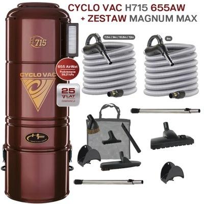 CYCLOVAC H715+комплект MagnumMAX x2 змеи 9 /10 lub12m