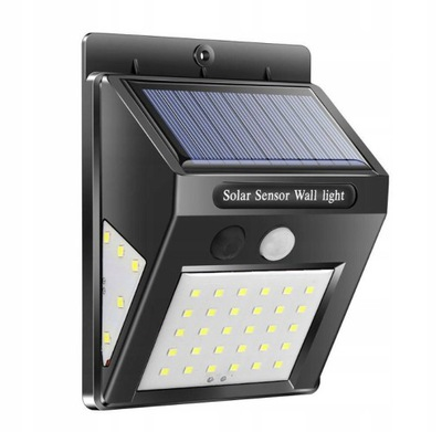 солнечная лампа LED 8W датчик движения , в сумерках 7169
