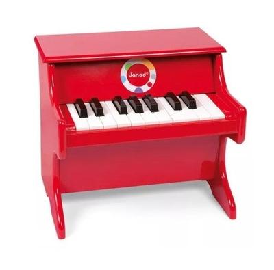 Janod Červená klavír Konfetami