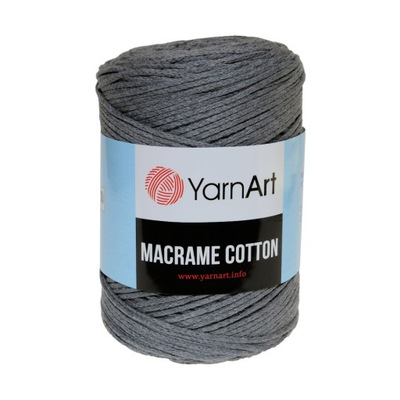250 г шнурок makrama Macrame Cotton Серый 774