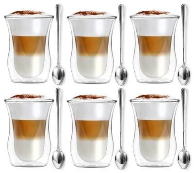 Стаканы термостойкие ??? кофе латте + ложки Vialli