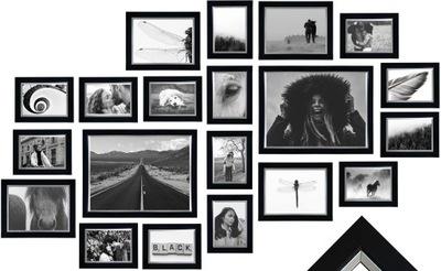 Multirama Lizbona Zestaw ramek na zdjęcia czarny