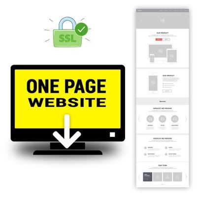 STRONA INTERNETOWA WWW ONE-PAGE + domena + hosting