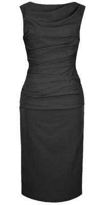 CAMILL 147 MIDI Czarna sukienka 38 WYSYŁKA 24H