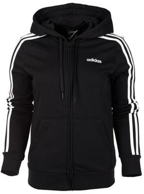 Bluza z kapturem męska Essentials 3 Stripes Pullover Adidas (czarna)