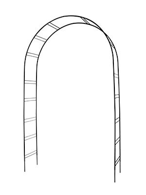 Pergola kovové lukova 250 cm PREMIUM