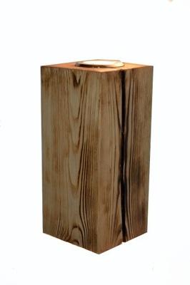 drevené steny Sconce LED lúč VINTAGE LOFT ručné