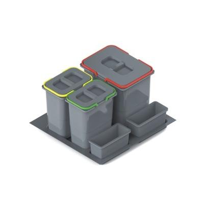 Контейнеры для мусора Praktiko 60 КРУИЗ 1x15l, 2x7l