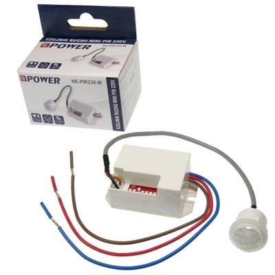 Датчик движения мини ПИР 230 AC LED для лестничных клеток извещатель