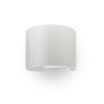 Fasáda svietidlo okrúhle biele 6W LED 4000 K