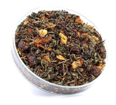 зеленый чай ПОРОХ Вишня +АЛОЭ и SAFLOR 50