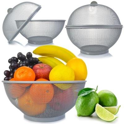 Koszyk na owoce z pokrywką 24x26 cm GREY kosz KELA