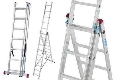 Лестница алюминиевая 3x10 Краузе CORDA 7 ,00м 030405