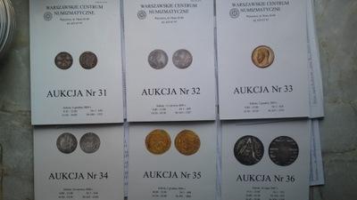 Katalogi Aukcyjne WCN 31,32,33,34,35,36+Listy wyni
