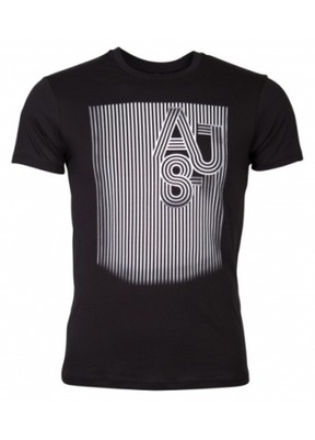 ARMANI JEANS męska koszulka t-shirt BLACK SLIM M