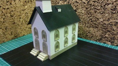Церковь здание Eaglemoss H0 коттедж - Новый