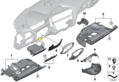 BMW черный отсек водителя F20 F21 F22 F23