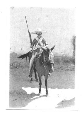 Открытка - Мексиканский всадник / Pancho Villa