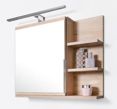 Шкаф ? зеркалом , шкаф для ванны, LED , сонома
