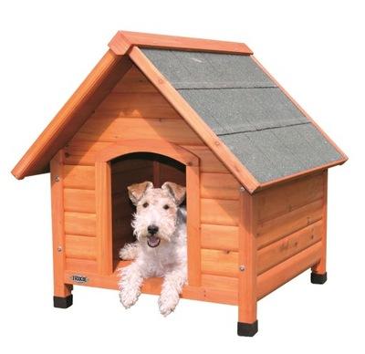 Drewniana buda dla psa (S). 76/76/70 cm (TX-39530)