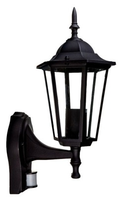 Fasáda lampa na stenu svetelný senzor pohybu Až čierna
