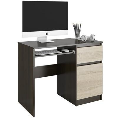 Biurko Biurka Pod Komputer Szkło Czarne TANIEJ 24h Zdjęcie