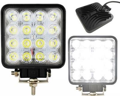 Лампа 16 LED галоген рабочий прожектор 48W 12V 24V