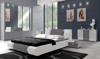 ПОЛНАЯ Спальня шкаф С ЗЕРКАЛАМИ кровать МАТРАС