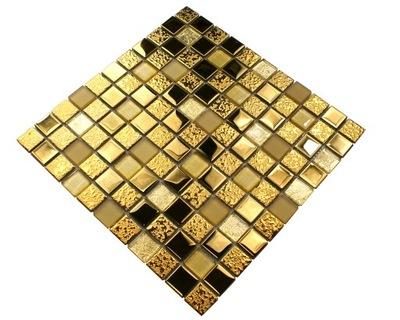 Мозаика стеклянная золота, плитка золото ДУБАЙ