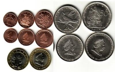 ОСТРОВА КУКА комплект 6 монет