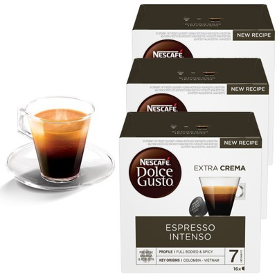 Dolce Gusto Espresso Intenso 48 капсул 3x16