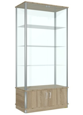 ПРОДЕМОНСТРИРОВАНЫ витрина СТЕКЛО 100 x190x40 + замок
