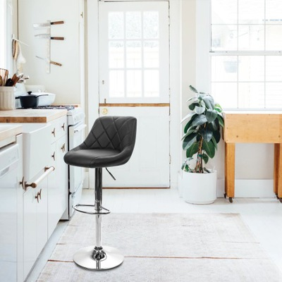 Hoker стул стул стеганые регулируемые черные
