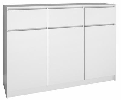 КОМОД ШКАФ 3D3S 120СМ белый двери ящик Салон