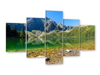 ГОРЫ Изображения на холсте 125x85 Изображение триптих