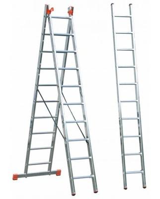 Лестница алюминиевая 3elementowa Краузе Tribilo 3x14